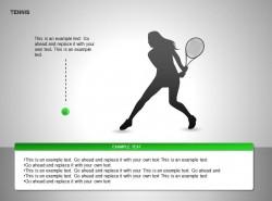女子网球运动图示