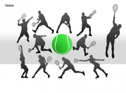 网球运动图示