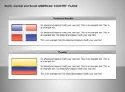 多明尼加共和国、厄瓜多尔国旗