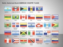 北、中、南美洲国家国旗