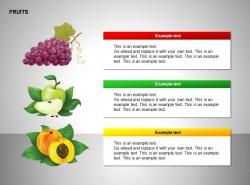 葡萄、苹果、桃图示