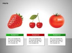 草莓、樱桃、西红柿图示
