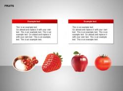红果子、草莓、苹果、西红柿图示