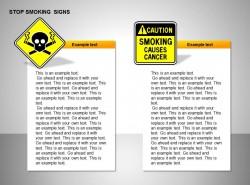 禁止吸烟两标志说明