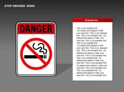 吸烟危险提示