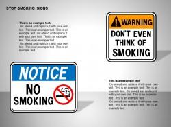 吸烟注意、警告图示