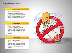禁止吸烟卡通图示
