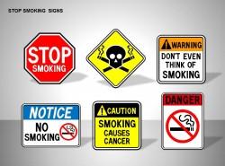 停止吸烟六标志