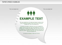 绿色人物圆形对话框