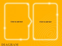 黄色发光带箭头文字框