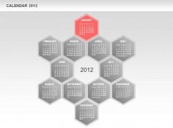 2012日历之一月份