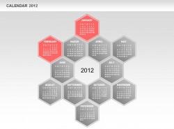 2012日历之一二月份