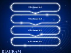蓝色发光带箭头4步骤文字框