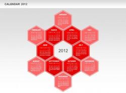2012日历红色图示