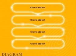 黄色发光带箭头4步骤文字框