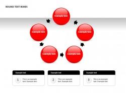 五部分循环圆形文本框