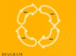 黄色发光4顺时针循环