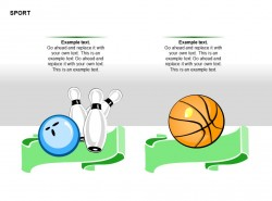 高尔夫球篮球图示文字说明