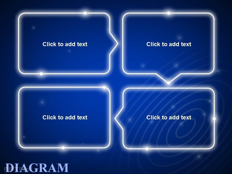 蓝色发光循环文本框_ppt设计教程网