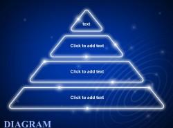 蓝色发光四层金字塔