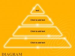 黄色发光四层金字塔