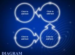 蓝色发光4步骤示意图