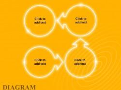 黄色发光4步骤示意图