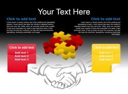 红黄立体拼图