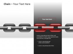 铁链之红色突显