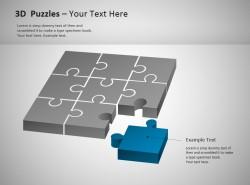 3D方形拼图之蓝色部分