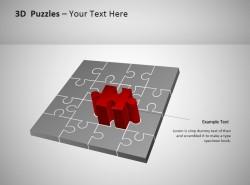 3D方形拼图之红色突显