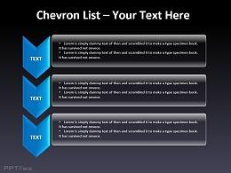 列表说明之三部分箭头向下