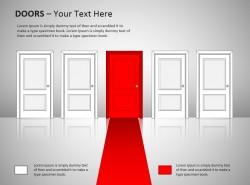 通往红色门图示