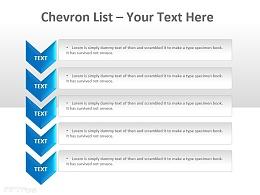 V型箭头列表说明 五部分