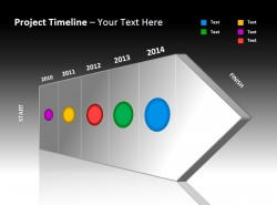 项目时间表与立体箭头 五个阶段
