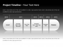 项目时间表之时间轴