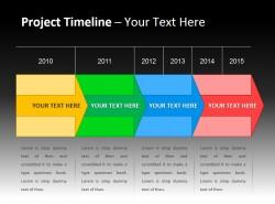 项目时间表与彩色时间轴