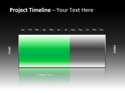 项目时间表与绿色进度条