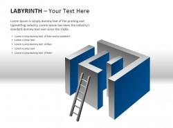 立体迷宫与梯子图示