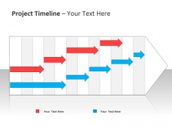 项目时间表与箭头图示 两个项目