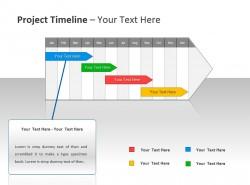 项目时间表与箭头标签 单项重点介绍