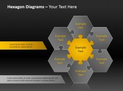 六角形总分关系图示