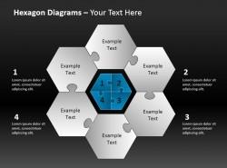 六角拼图与中心介绍 四部分
