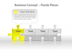 经营理念拼图与难题黄色板块