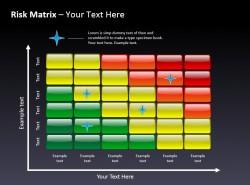 水晶风格的风险矩阵图