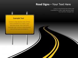 黄色告示牌路标图示幻灯片下载