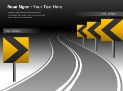 公路导航路标幻灯片模板免费下载