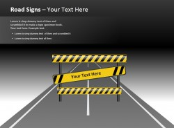 路障路标指引精美PPT模板下载