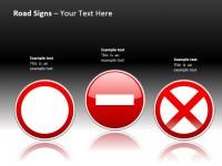 三种禁止通行路标PPT模板