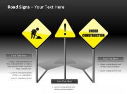 三组黄色警示标志幻灯片下载